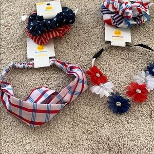 NWT hair accessories bundle great for 4th of July!